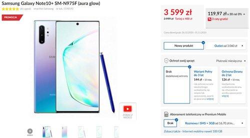 Samsung Galaxy Note 10+ w promocji RTV Euro AGD