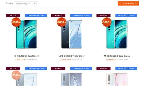 Nowa cena Xiaomi Mi 10 w oficjalnej polskiej dystrybucji / via Mi-home.pl
