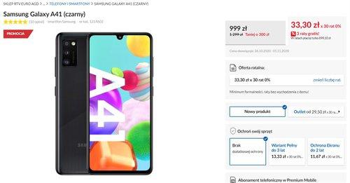 Promocyjna cena Samsung Galaxy A41 w RTV Euro AGD