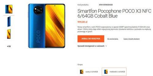Xiaomi POCO X3 NFC 64 GB ponownie dostępny w sklepie Mi Store Polska