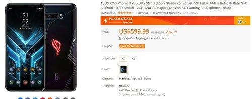 ASUS ROG Phone 3 za 2300 złotych to bezkonkurencyjny smartfon