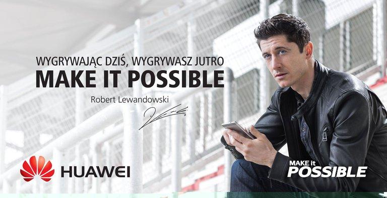 Robert Lewandowski - ambasador marki Huawei