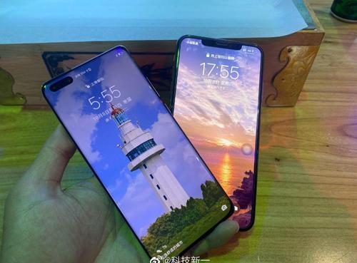 Huawei Mate 40 Pro pozuje na żywo wraz z rzekomym iPhone 12/fot. Weibo via HuaweiCentral