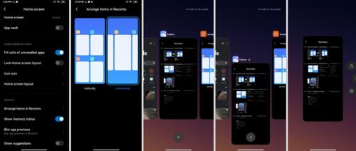 MIUI 12 z nowym widokiem otwartych aplikacji/fot. XDA