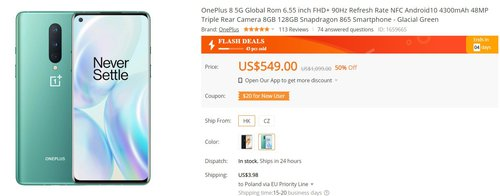OnePlus 8 за 2090 злотых - отличная покупка