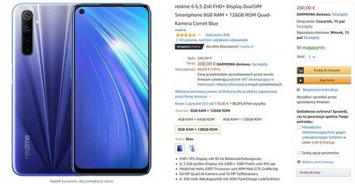 Realme 6 w dobrej promocji za około 900 złotych to świetny smartfon z ekranem 90 Hz i 8 GB RAM