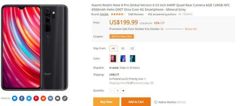 Redmi Note 8 Pro w wersji 6/128 GB za 720 złotych to świetny wybór