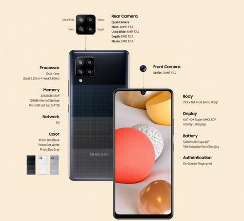 Полная спецификация Samsung Galaxy A42 5G / фото. Samsung
