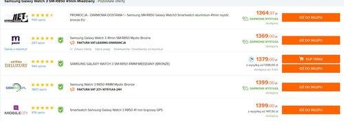Samsung Galaxy Watch 3 mocno staniał w Polsce/fot. Ceneo