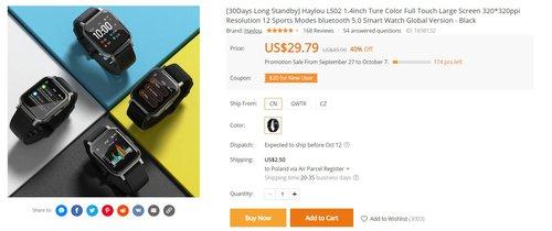 Xiaomi Haylou LS02 в этой акции - одни из самых долговечных часов на кону