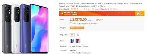 Xiaomi Mi Note 10 Lite to jeden z najlepszych smartfonów za około 1000 złotych