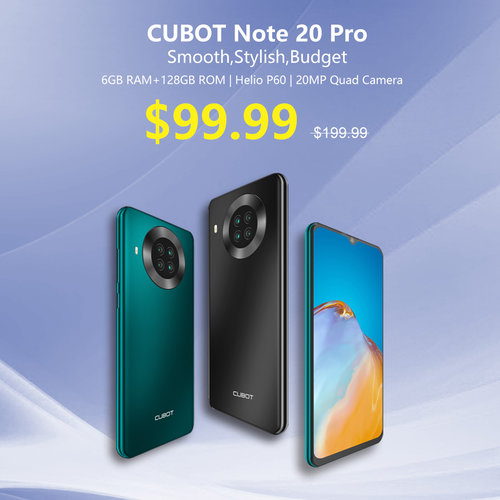 Promocja Cubot z okazji Dnia Singla 2020 - cena Cubot Note 20 Pro