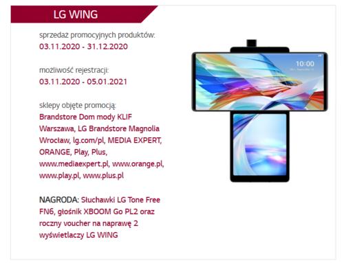 Premierowa promocja na LG Wing w Polsce