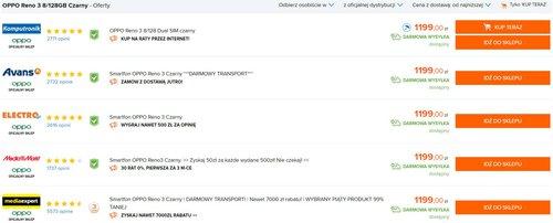 Promocyjna cena OPPO Reno 3 w oficjalnej polskiej dystrybucji / Ceneo