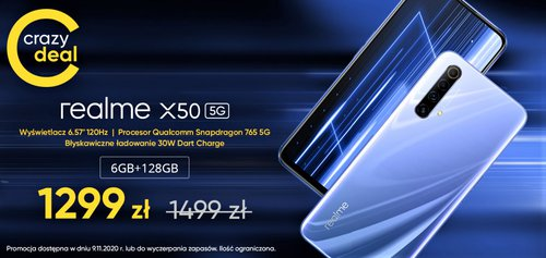 Promocyjna cena Realme X50 5G w polskim sklepie producenta