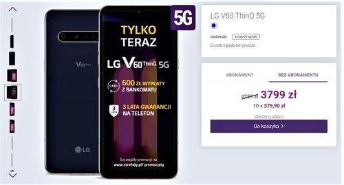 Promocyjna cena LG V60 ThinQ w sklepie Play bez umowy