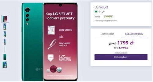 Promocyjna cena LG Velvet w sklepie Play bez umowy