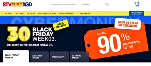 Black Friday Weeks w RTV Euro AGD