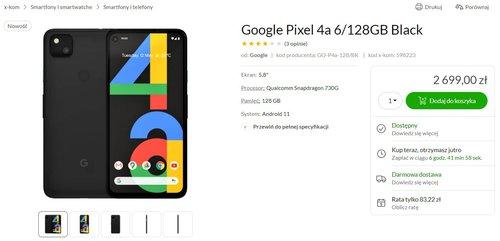 Cena Google Pixel 4a w x-kom