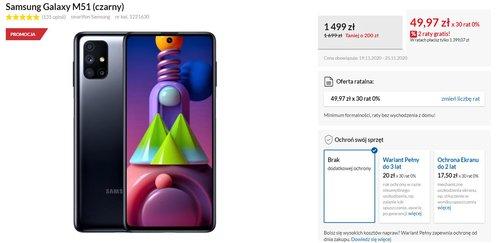 Promocyjna cena Samsung Galaxy M51 w RTV Euro AGD