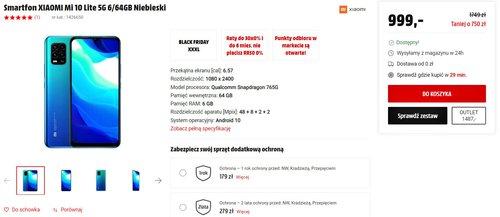Promocyjna cena Xiaomi Mi 10 Lite w sklepie MediaMarkt