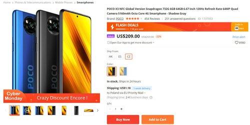 Promocyjna cena Xiaomi POCO X3 NFC w Banggood