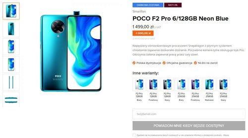 Promocyjna cena Xiaomi POCO F2 Pro w Mi-home.pl