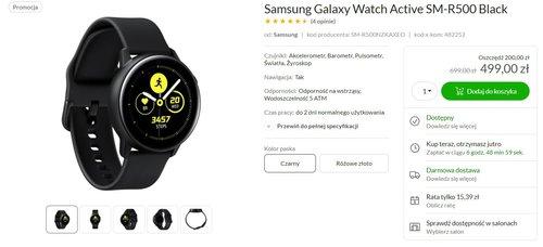 Samsung Galaxy Watch Active za 499 złotych to świetny smartwatch