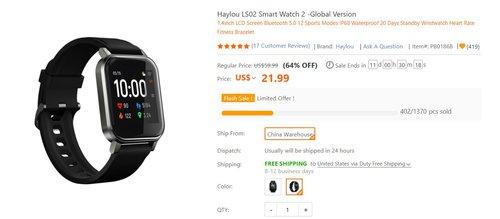 Tani smartwatch Xiaomi w promocji