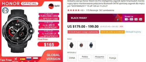 Honor Watch GS Pro to niedrogi smartwatch z bardzo dobrą baterią