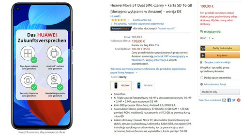 Huawei Nova 5T za mniej niż 950 złotych to nadal świetny eks-flagowiec z dobrym aparatem