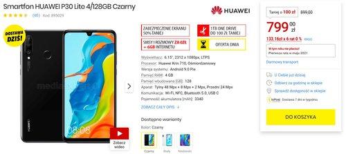 Huawei P30 Lite w fajnej cenie/fot. Mediaexpert
