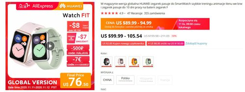 Huawei Watch Fit to najlepszy wybór do 300 złotych