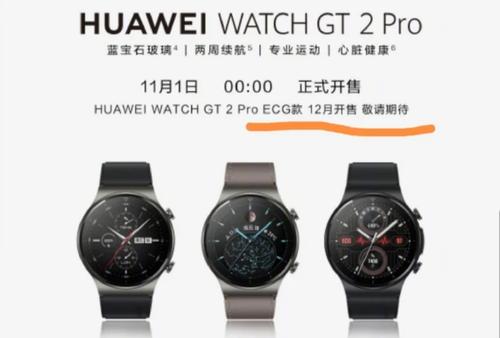 Huawei Watch GT2 Pro z EKG debiutuje już 12 grudnia/fot. gizmochina