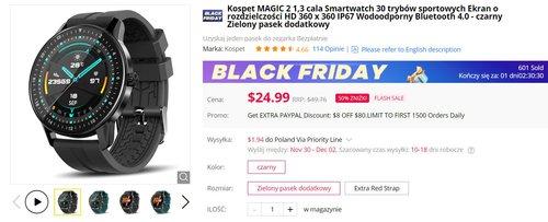 Kospet Magic 2 to jeden z najciekawszych tanich smartwachy - dzisiaj kupisz go w dobreh promocji