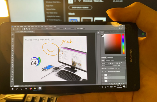 Lumia 950, na której odpalisz pełnego Photoshopa z Windowsa 10/fot. Twiter