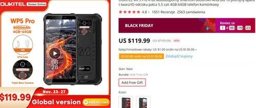 Oukitel WP5 Pro za 120 dolarów ma wszystko, czego można wymagać od budżetowca