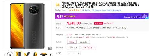 POCO X3 NFC w wersji 6/128 GB za nieco ponad 900 złotych to najlepsza cena w historii