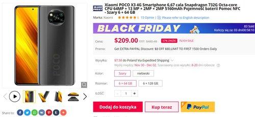 POCO X3 NFC w świetnej cenie - zwłaszcza przy płatności PayPal