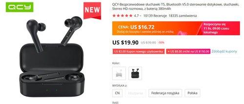 QCY T5 za 60 złotych to bezkonkurencyjne słuchawki TWS