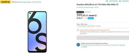 Realme 6S za 599 złotych to bezkonkurencyjny smartfon/fot. Allegro