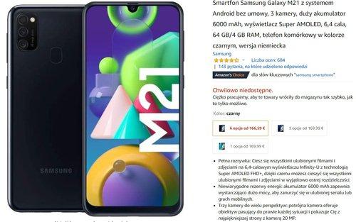 Samsung Galaxy M21 za 800 złotych to fantastyczna promocja na tani smartfon z dobrą baterią