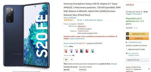 Samsung Galaxy S20 FE 4G doczekał się najniższej ceny/fot. Amazon