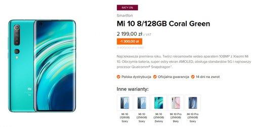 Xiaomi Mi 10 w promocji za 2199 złotych