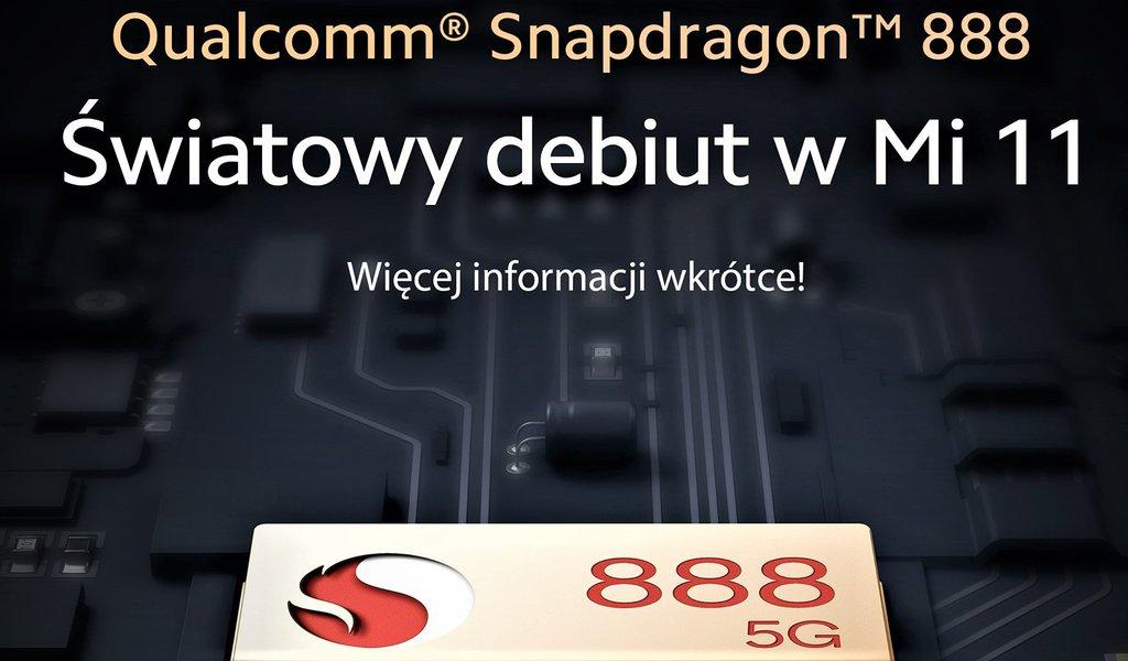 Zapowiedź premiery Xiaomi Mi 11 z układem Snapdragon 888 / fot. Xiaomi Polska