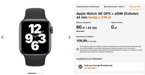 Apple Watch SE GPS + eSIM