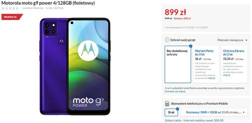 Motorola Moto G9 Power w RTV Euro AGD