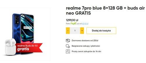 Przy zakupie Realme 7 Pro zgarniesz w prezencie słuchawki buds air neo