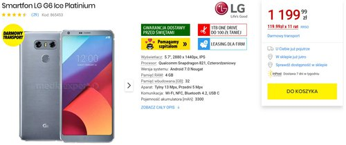 LG G6 ponownie dostępny w Media Expert. Tak, w 2020 roku