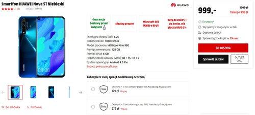 Promocyjna cena Huawei Nova 5T w Media Markt